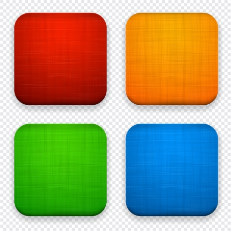 illustration of high-detailed linen apps icon set.  Vector