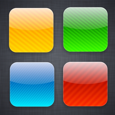 rounded squares: illustration of high-detailed striped apps icon templates.