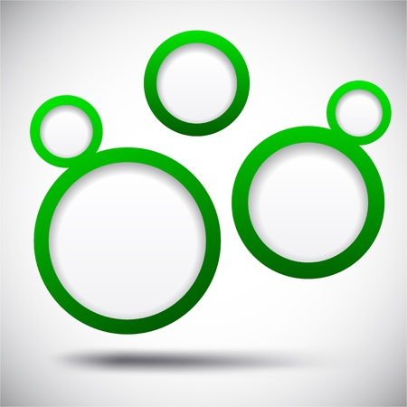 Abstract green background contains of round bubbles. Stock Vector - 14924373