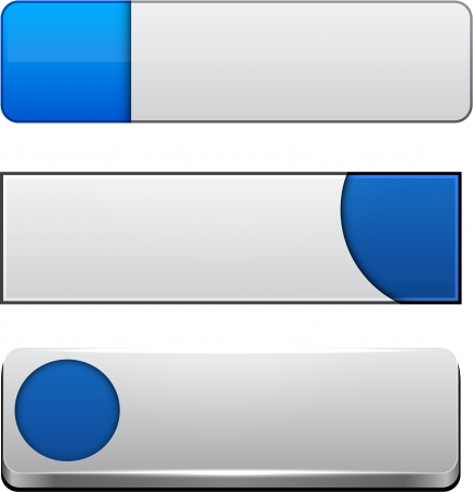 aqua icon: Set of blank blue buttons for website or app.