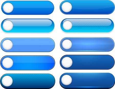 Set of blank boutons bleus pour le site Web ou une application.