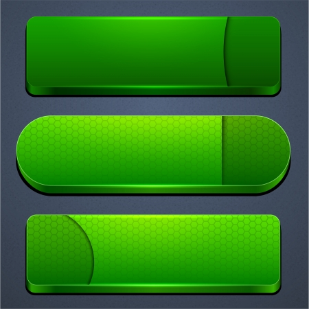 Set of blank green buttons for website or app Stock Vector - 15121962