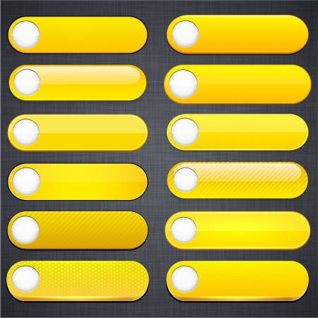 Set of blank yellow buttons for website or app  Stock Vector - 15435830