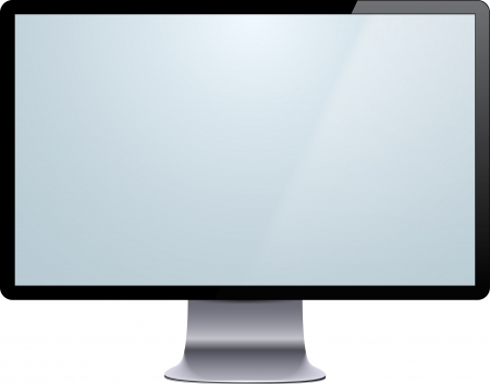 lcd monitor: Vector illustration of high-detailed modern display. Eps10.