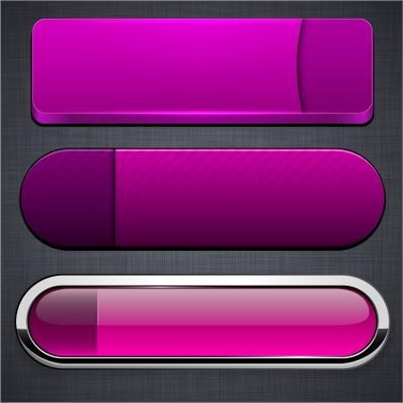 eps10 vector: Set of blank magenta buttons for website or app. Vector eps10.  Illustration