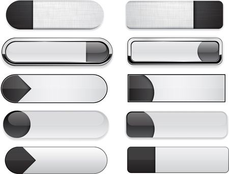 website buttons: Set of blank black buttons for website or app  Vector eps10