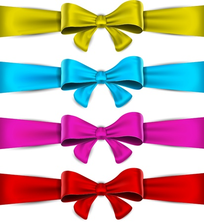 Realistic bow collection   Vector