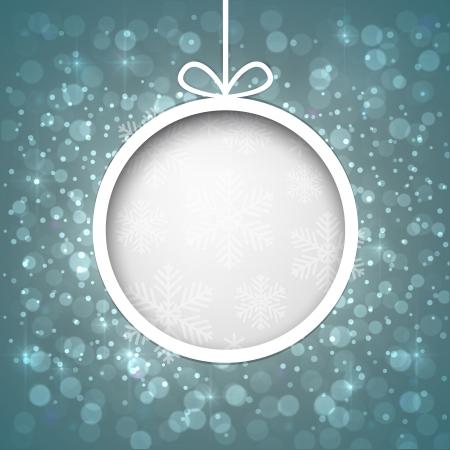 Gloeiende glanzende kerstbal achtergrond Vector eps10