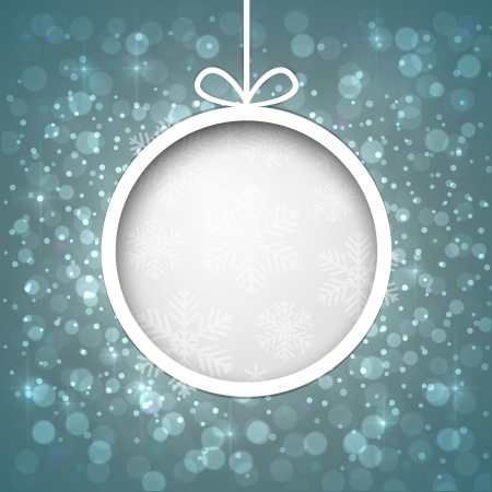 Glowing shiny christmas ball background Vector eps10