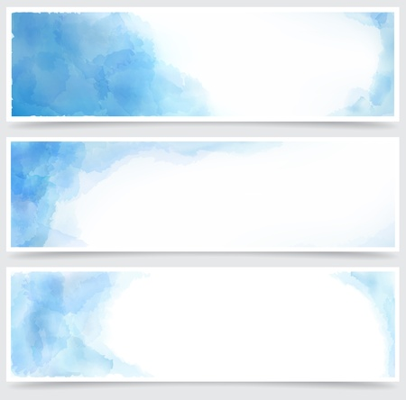 Vector Illustration of set of three watercolor banners. Eps10. Stock Vector - 16855621