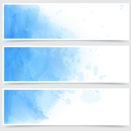 Vector Illustration of set of three watercolor banners. Eps10.  Stock Vector - 16855622