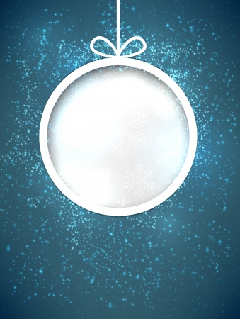 Glowing shiny christmas ball background. Vector eps10. Vector
