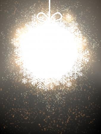 Glowing shiny christmas ball background. Vector eps10. Stock Vector - 16855617