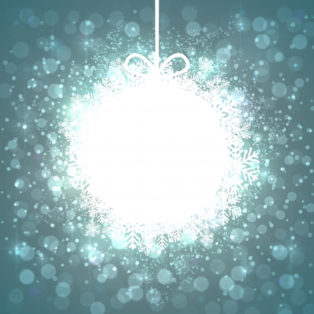 Glowing shiny christmas ball background. Vector eps10. Stock Vector - 16855618