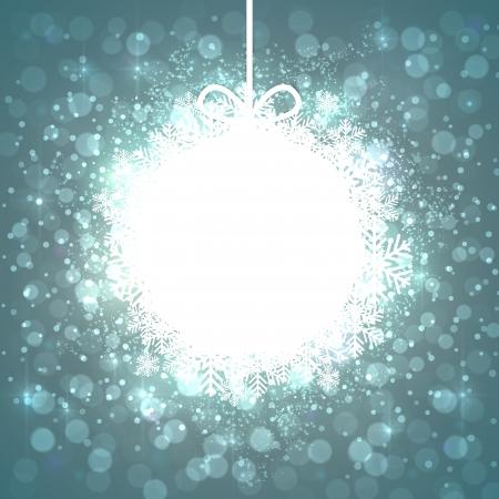 Glowing shiny christmas ball background. Vector eps10. Stock Vector - 16855618