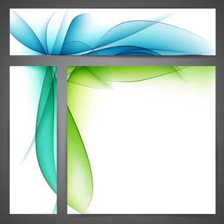 Vector Illustration of set of nature abstract banners  Eps10  Vector