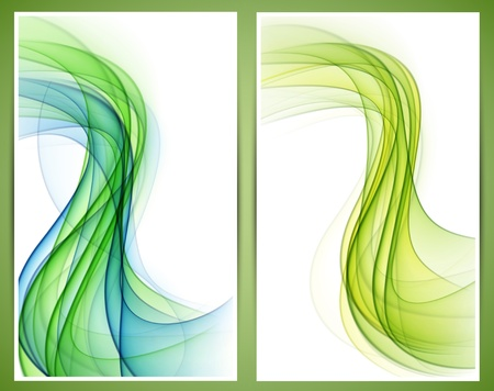 Vector set of abstract smoke banners  Eps10  Vector