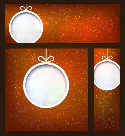 Glowing shiny brown christmas banners  Vector eps10 Stock Vector - 16877730