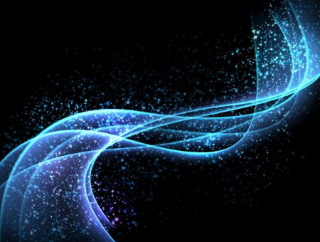 neon wallpaper: astratto sfondo scuro Blurry onde lisce incandescente