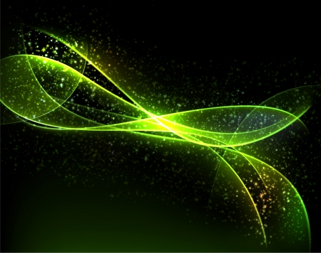 abstract dark background  Blurry smooth glowing waves Vector