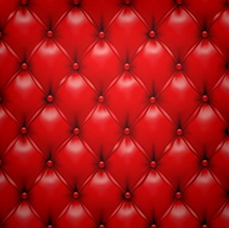 sofa viejo: Ilustraci�n vectorial de fondo rojo modelo realista tapicer�a de cuero