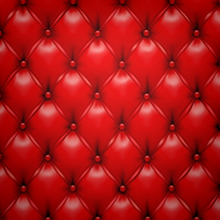 upholstered: Vector illustration of red realistic upholstery leather pattern background