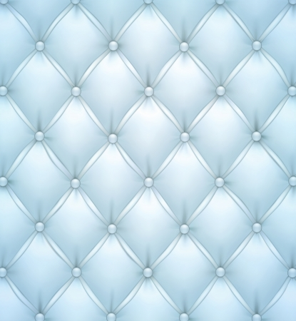 upholstered: Vector illustration of blue realistic upholstery leather pattern background  Illustration