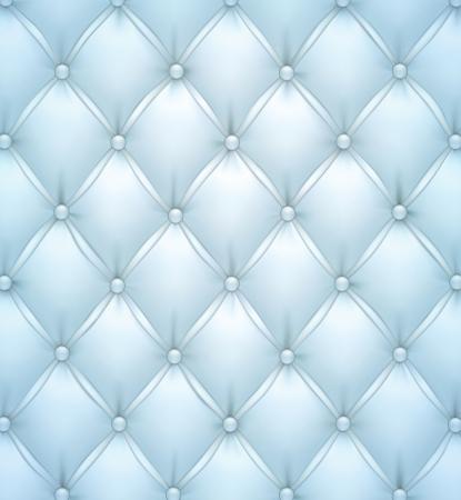 upholstered: Vector illustration of blue realistic upholstery leather pattern background  Illustration