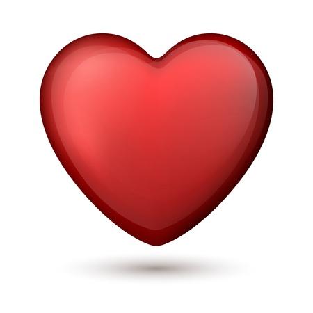 Vector illustration of red heart Stock Vector - 17149983