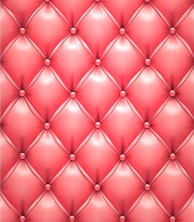sofa viejo: Ilustraci�n vectorial de fondo de color rosa patr�n realista tapicer�a de cuero Vectores