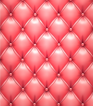 upholstered: Vector illustration of pink realistic upholstery leather pattern background
