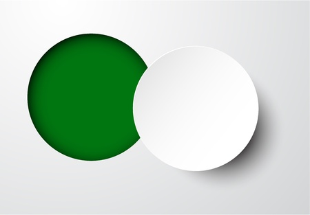 paper cut out: Vector illustration of white paper notched out round bubble