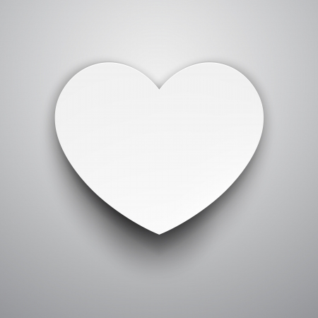 Vector illustration of white paper heart  Vector