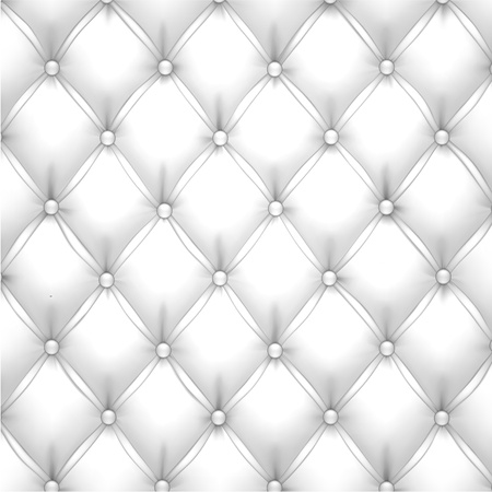 leather background: Vector illustration of white realistic upholstery leather pattern background. Eps10.  Illustration