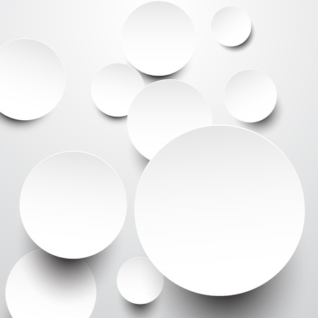 Vector abstract background composed of white paper round notes. Eps10. Vector