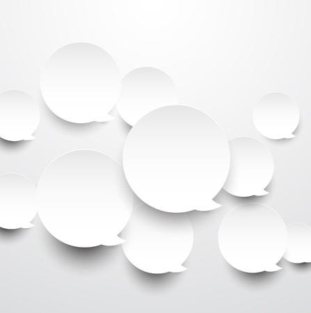 bulles: Vector abstract background compos� de discours de papier blanc rond bulles Eps10 Illustration