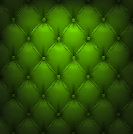 upholstered: Vector illustration of green realistic upholstery leather pattern background  Eps10