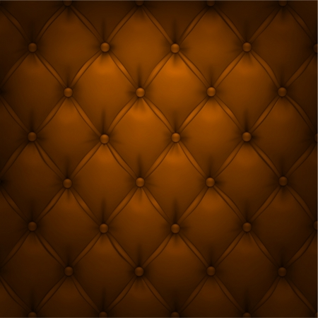 upholstered: Vector illustration of brown realistic upholstery leather pattern background  Eps10