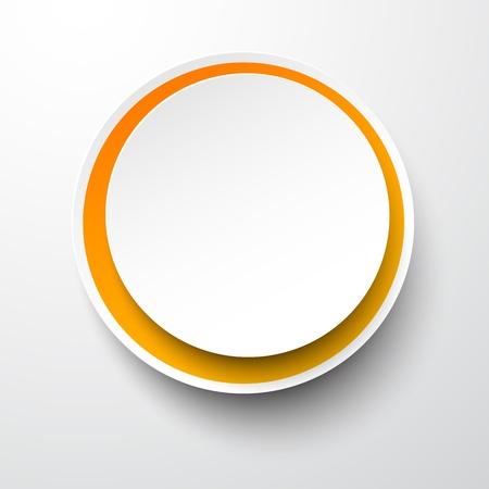 white sticker: Vector illustration of white paper round bubble. Eps10.