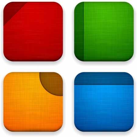 Vector illustration of high-detailed linen apps icon templates. Eps10. Vector