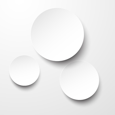 shadow: illustration of white paper round notes. Illustration