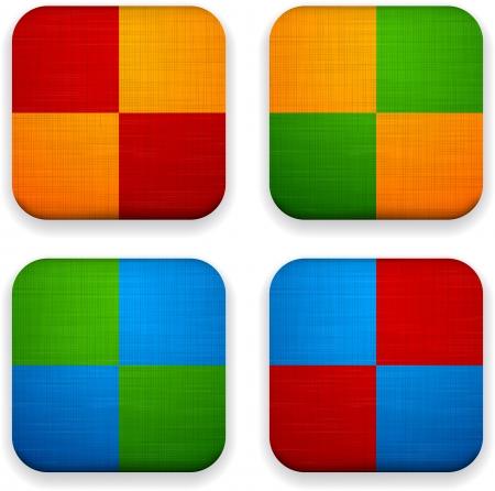 bicolor: high-detailed linen apps icon templates.