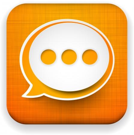 Vector illustration of high-detailed linen app speech bubble icon template. Eps10. Stock Vector - 17359385
