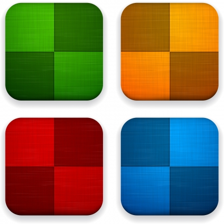 Vector illustration of high-detailed linen apps icon templates  Vector