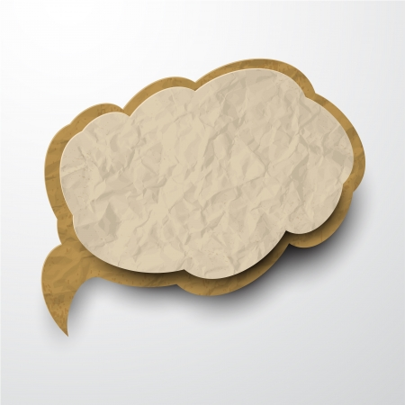 illustration of old wrinkled paper cloud. Stock Vector - 17712140