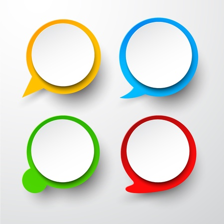 Vector illustration of paper round speech bubbles. Eps10. Stock Vector - 18220833