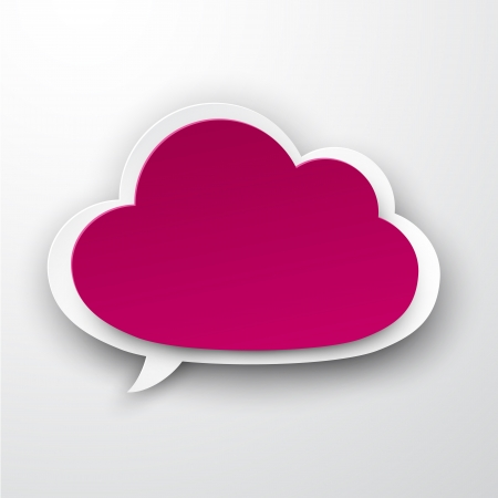 Vector illustration of fuchsia paper cloud. Eps10.  Vector