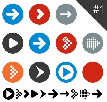 vector eps10: Vector illustration of plain round arrow icons. Eps10.