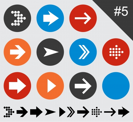 Vector illustration of plain round arrow icons  Eps10   Vector