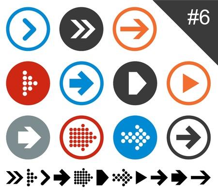 arrowheads: Vector illustration of plain round arrow icons  Eps10   Illustration